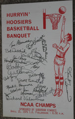 1976 Indiana University Basketball Banquet Program, NCAA Champs - Vintage Indy Sports