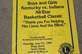 Autographed 1983 Indiana vs Kentucky H.S. All Star Program - Vintage Indy Sports