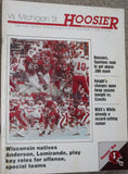 1985 Michigan State vs Indiana University Football Program - Vintage Indy Sports