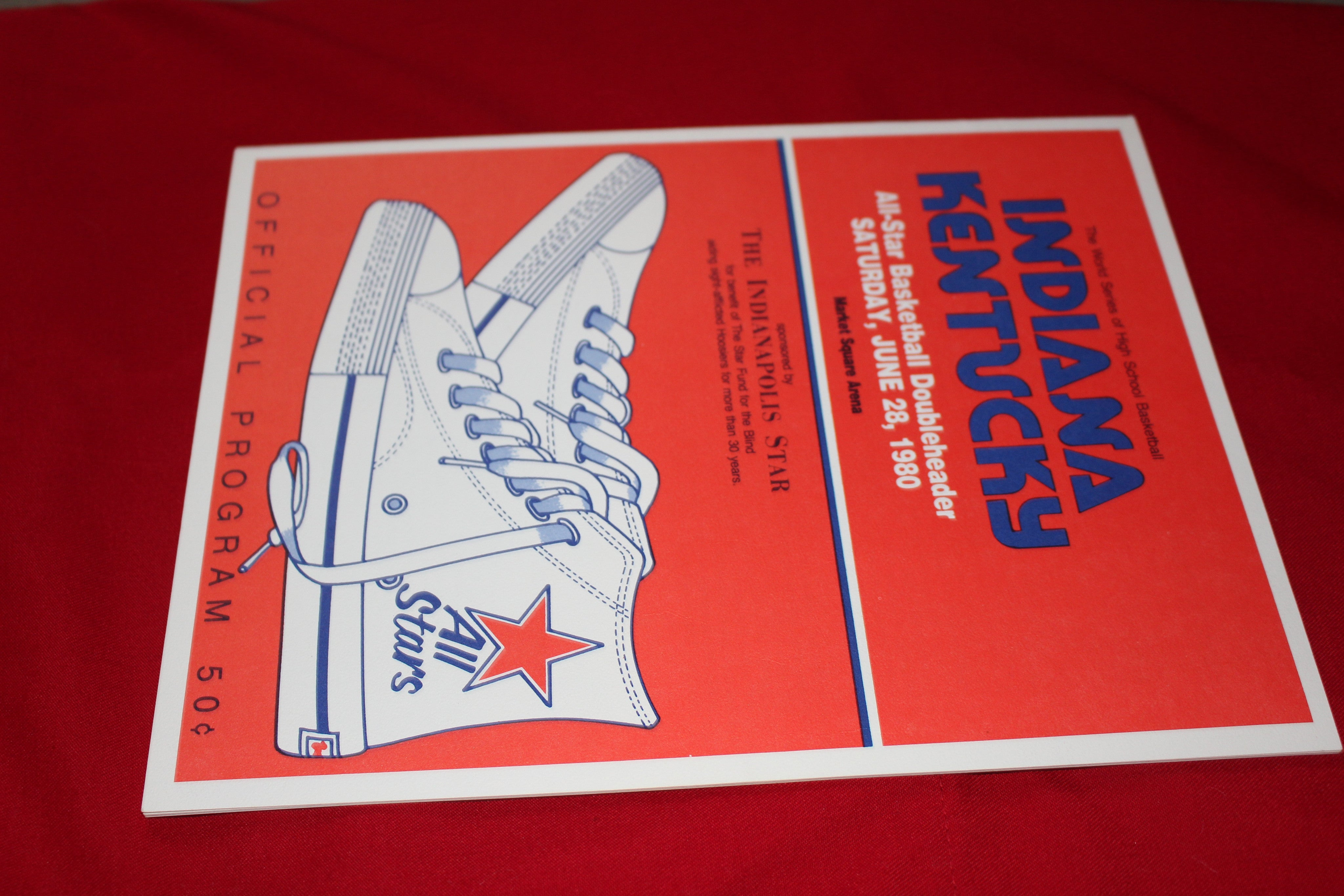 1980 Indiana vs Kentucky High School Basketball All Star Game Program - Vintage Indy Sports