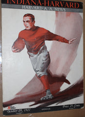 1927 Indiana vs Harvard Football Program, Branch McCracken - Vintage Indy Sports