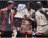 Bob Knight Autographed 1976 NCAA Champs Trophy 16x20 Photo, Steiner COA - Vintage Indy Sports