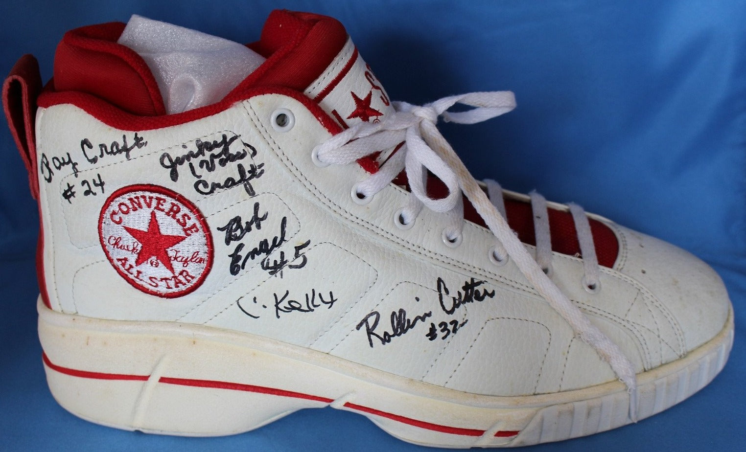1954 Milan High School Basketball Team Signed Converse Shoe - Vintage Indy Sports
