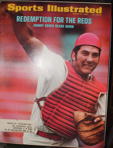 1972 Sports Illustrated Magazine, Johnny Bench Cincinnati Reds on Cover