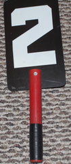 Vintage Indiana Pacers 1960's ABA Basketball Scorekeeper's Game Used Hand Held Number