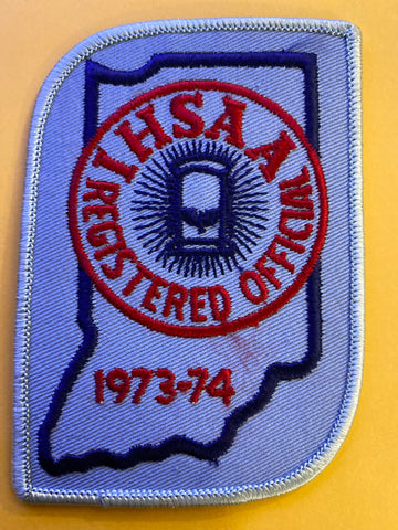 Vintage 1973-74 IHSAA Registered Official Patch