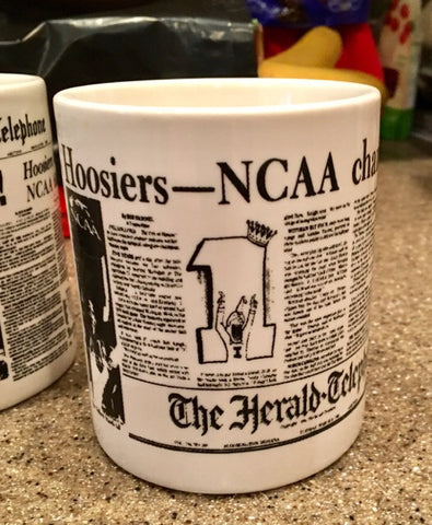 1981 Indiana University Basketball NCAA Basketball Champions Headline Mug