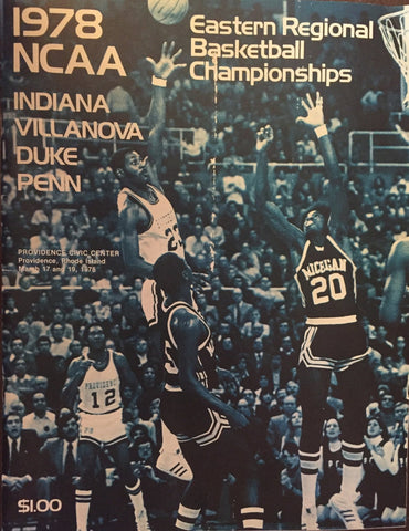 1978 NCAA Eastern Regional Basketball Championships Program