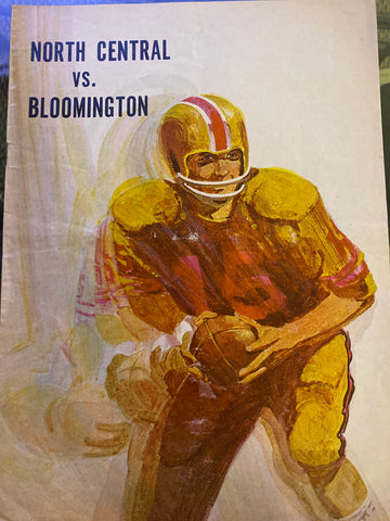 1972 Bloomington vs Indianapolis North Central HS Football Program