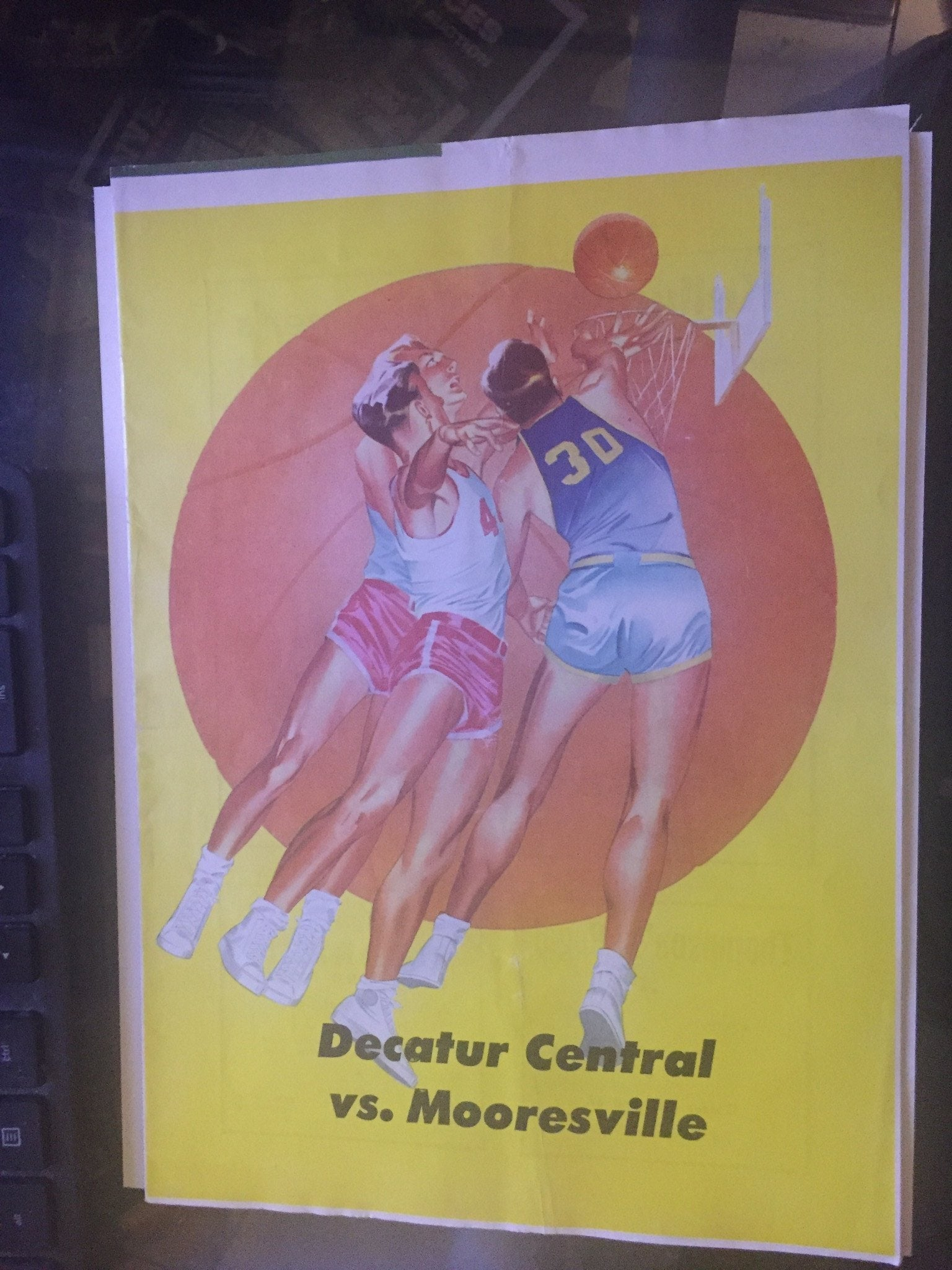 1951 Decatur Central vs Mooresville Indiana High School Basketball Program - Vintage Indy Sports