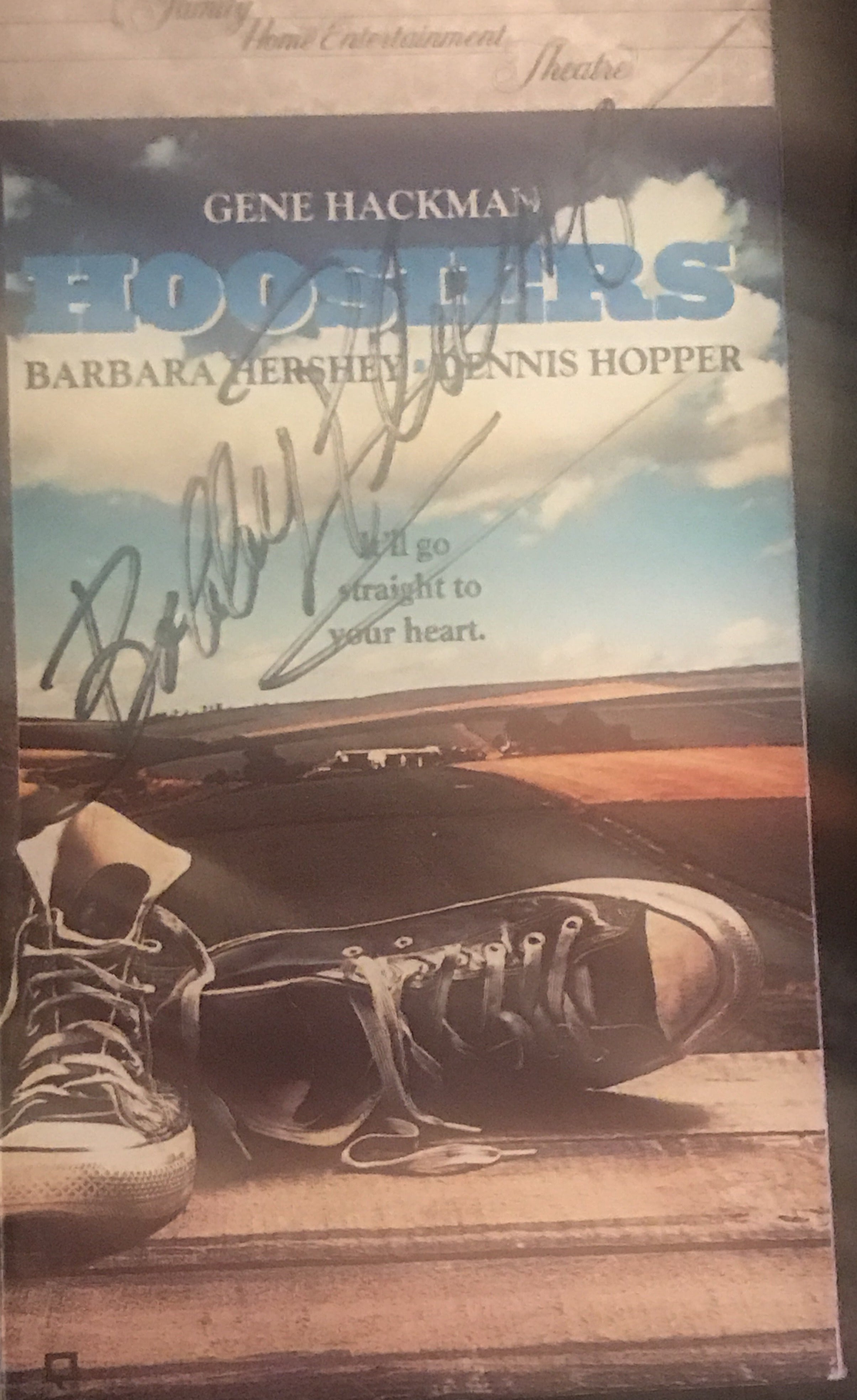 Bobby Plump Autographed Hoosiers VHS Video Tape - Vintage Indy Sports