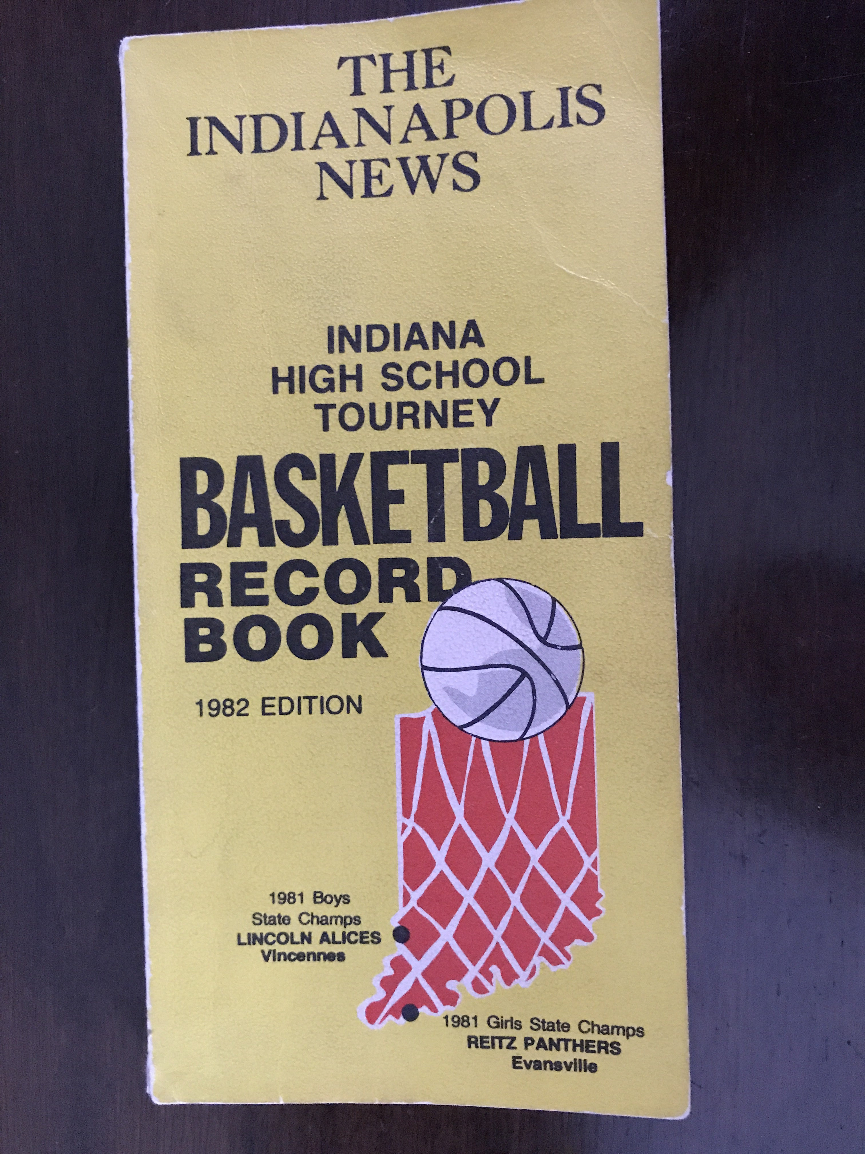1982 The Indianapolis News Indiana High School Tourney Basketball Record Book - Vintage Indy Sports