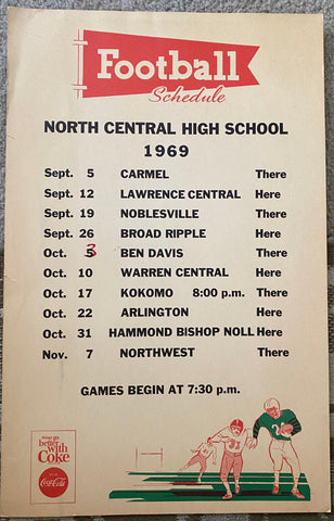 1969 Indianapolis North Central HS Football Poster