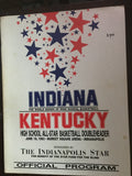 1983 Indiana vs Kentucky High School Basketball All Star Game Program - Vintage Indy Sports