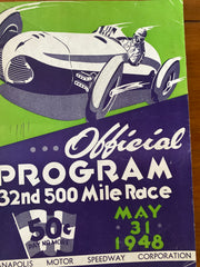 1948 Indianapolis 500 Race Program
