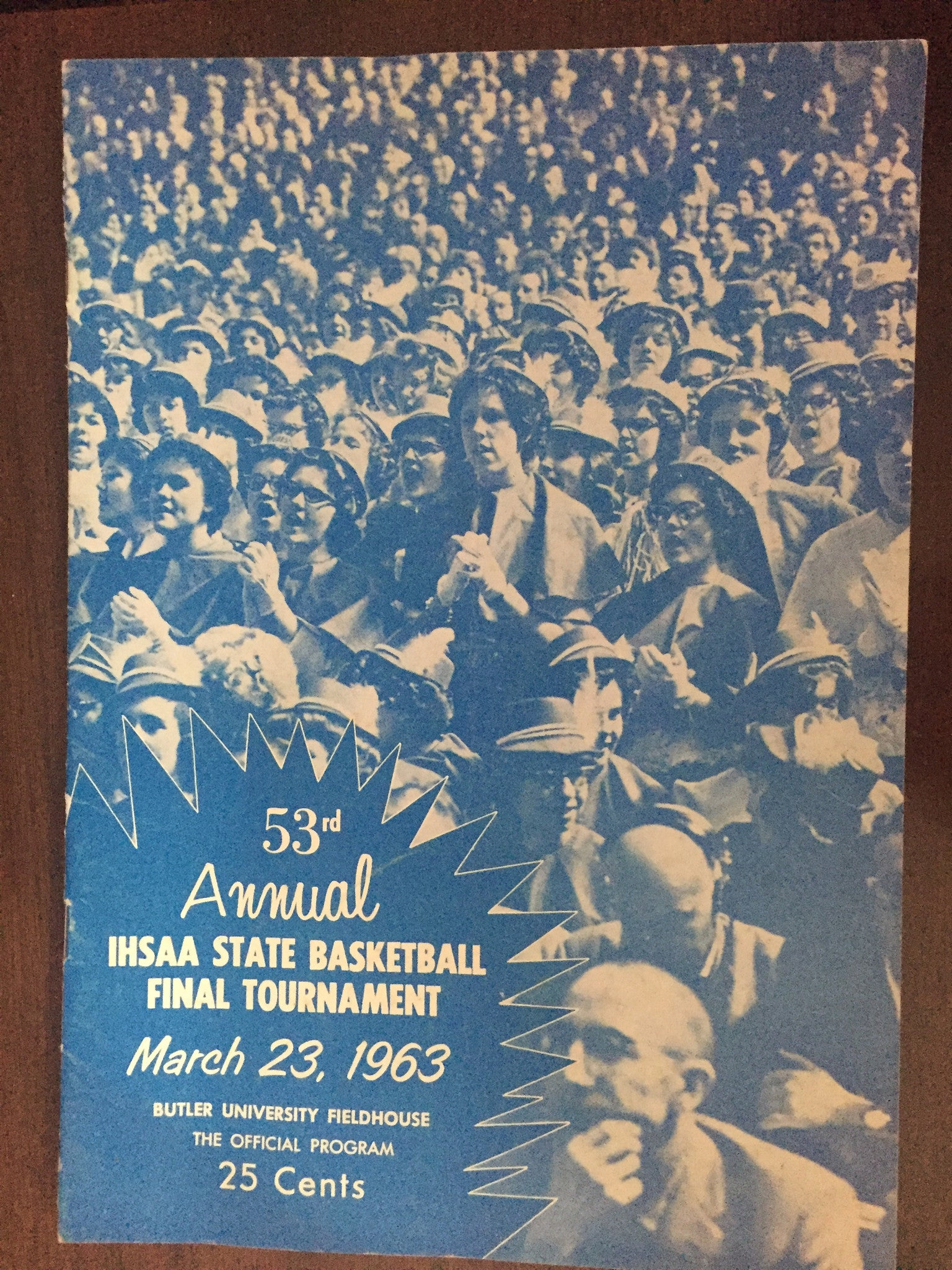 1963 Indiana High School Basketball State Finals Program - Vintage Indy Sports