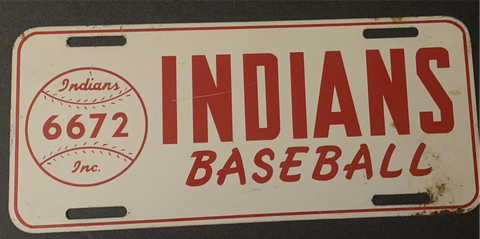 1961 Indianapolis Indians License Plate