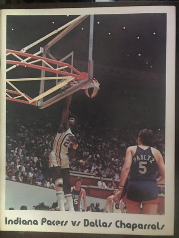 1971-72 Indiana Pacers vs Dallas Chapparrals ABA Basketball Program