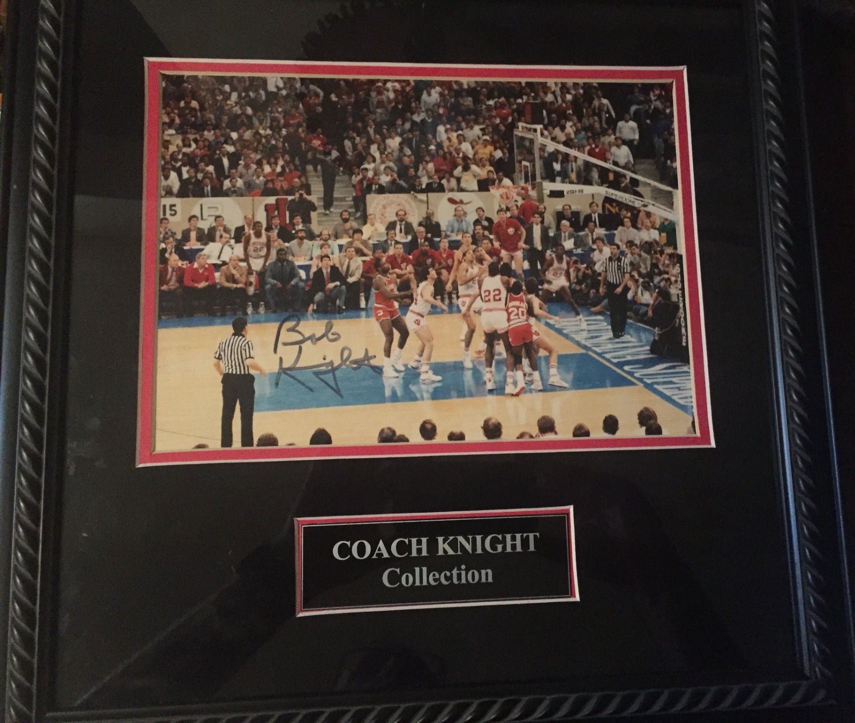Keith Smart 1987 NCAA Championship Game Winning Shot Photo, Bob Knight Autograph - Vintage Indy Sports