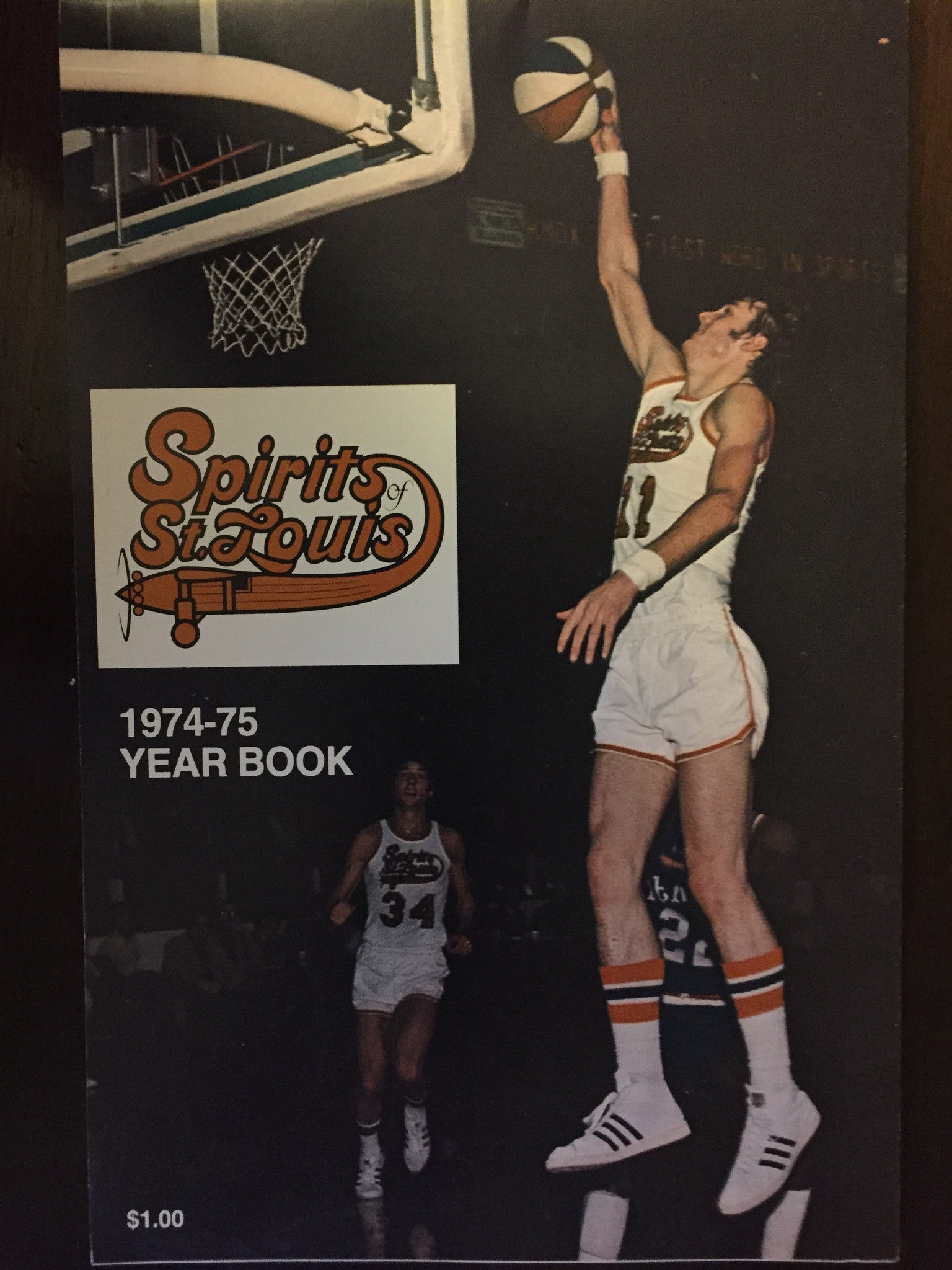 1974-75 ABA Basketball Spirts of St. Louis Yearbook - Vintage Indy Sports