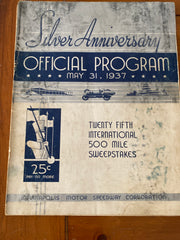 1937 Indianapolis 500 Race Program