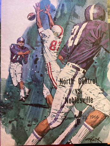 1966 Indianapolis North Central vs Noblesville HS Football Game Program