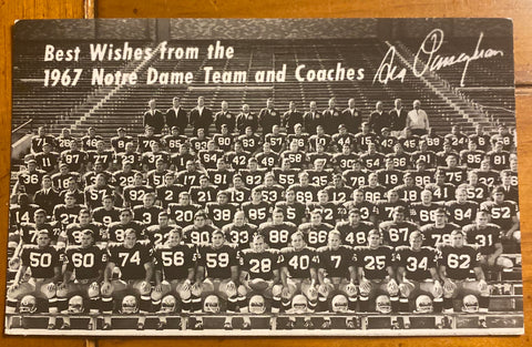 1967 Notre Dame Football Team Photo Postcard