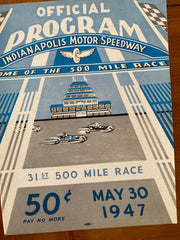 1947 Indianapolis 500 Race Program