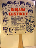 1973 Indiana vs Kentucky High School Basketball All Star Game Fan - Vintage Indy Sports