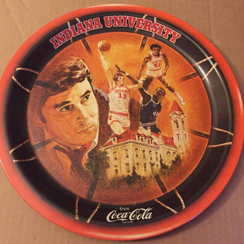 1976 Indiana University Bob Knight NCAA Basketball Champions Coca Cola Tray