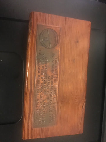1894 Piece of Floor from Crawfordsville YMCA, 1st game in Indiana