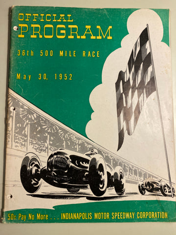 1952 Indianapolis 500 Race Program