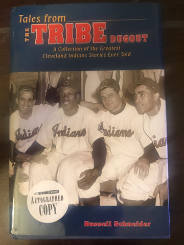 Bob Feller Autographed Book Tales from the Tribe Dugout