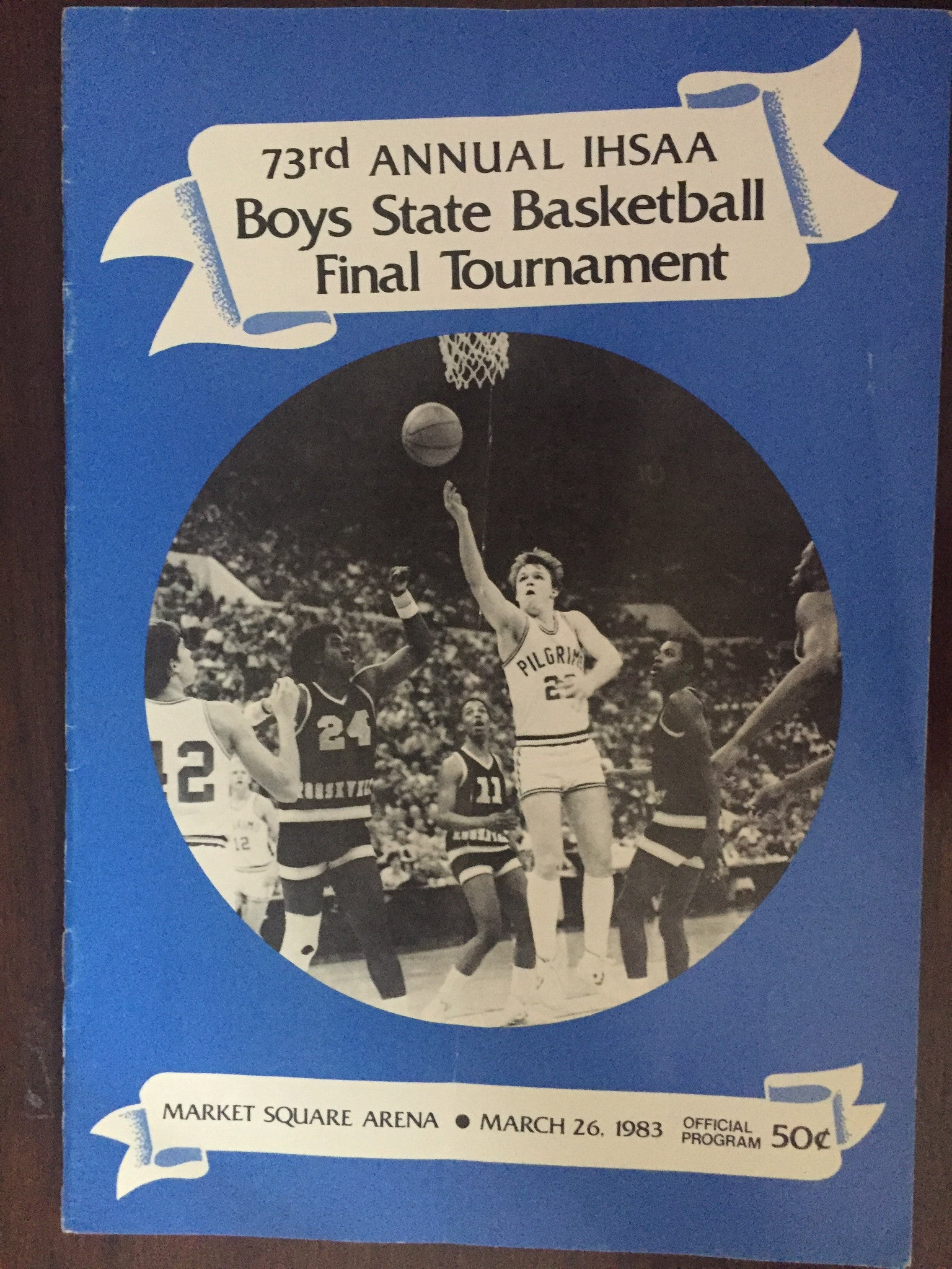1983 Indiana High School Basketball State Finals Program - Vintage Indy Sports