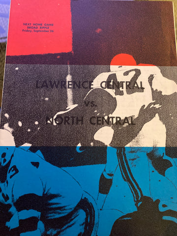 1969 Lawrence Central vs Indianapolis North Central HS Football Program