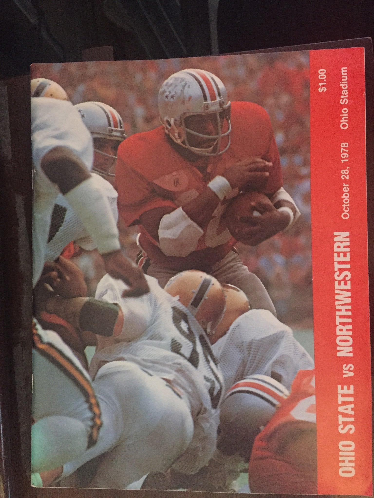 1978 Ohio State vs Northwestern Football Progam - Vintage Indy Sports