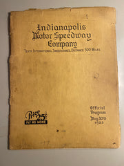 1922 Indianapolis 500 Race Program