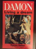 Damon Bailey Living a Dream Paperback Book - Vintage Indy Sports