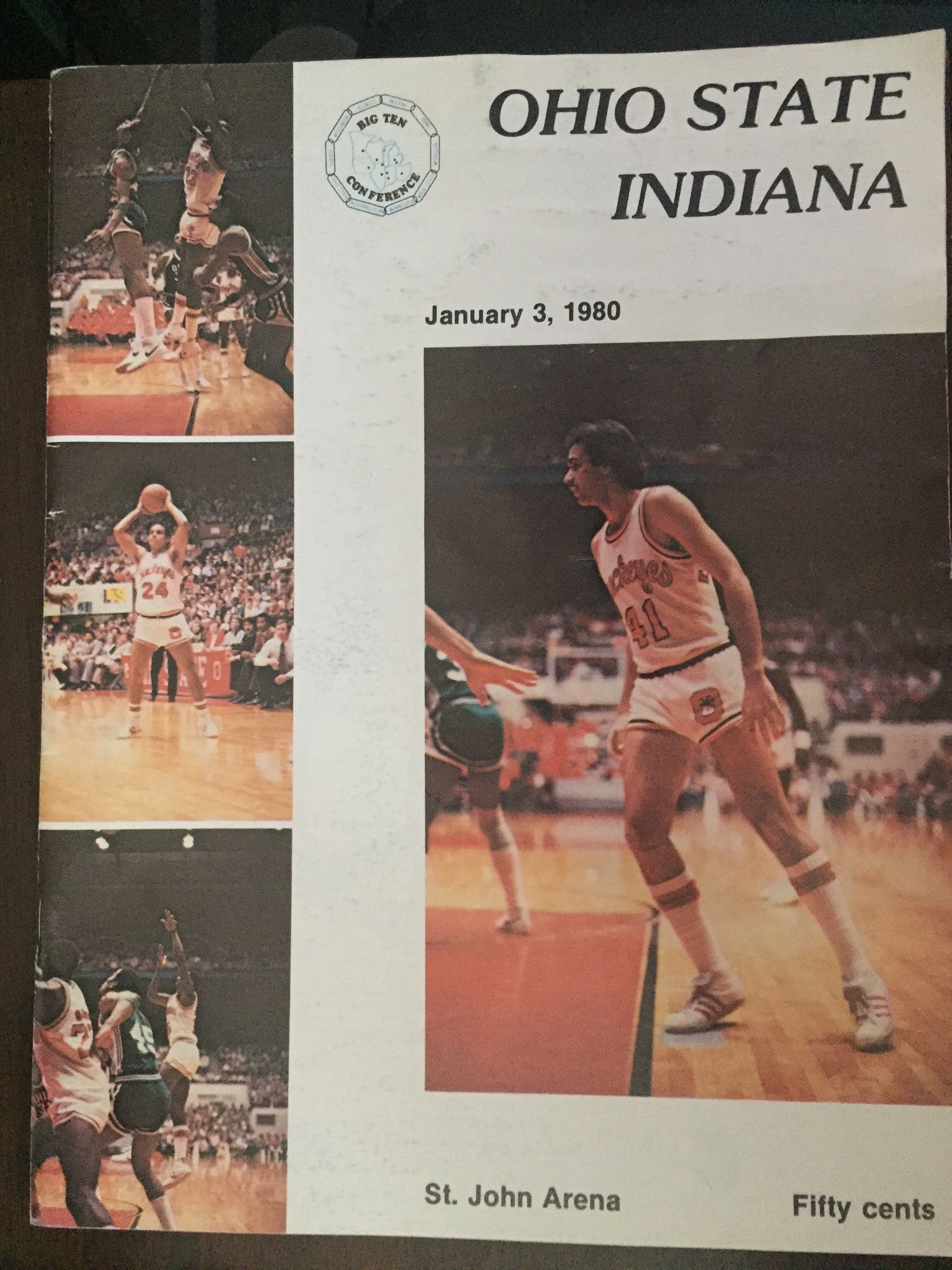 1980 Ohio State Vs Indiana University Basketball Program - Vintage Indy Sports