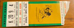 1977 Notre Dame vs Purdue Football Ticket Stub