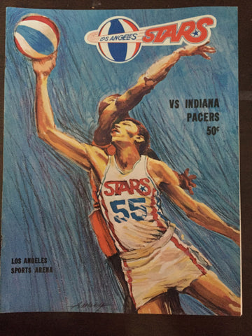 1969-70 Indiana Pacers vs Los Angeles Stars ABA Basketball Program