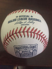 2006 Busch Stadium Inaugural Game Logo Baseball - Vintage Indy Sports
