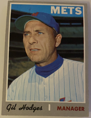 1970 Topps Gil Hodges Baseball Card #394, NM