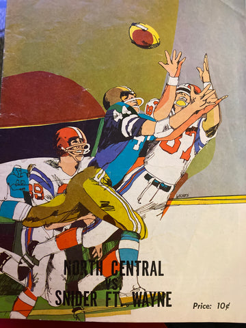 1970 Ft. Wayne Snider vs Indianapolis North Central HS Football Program