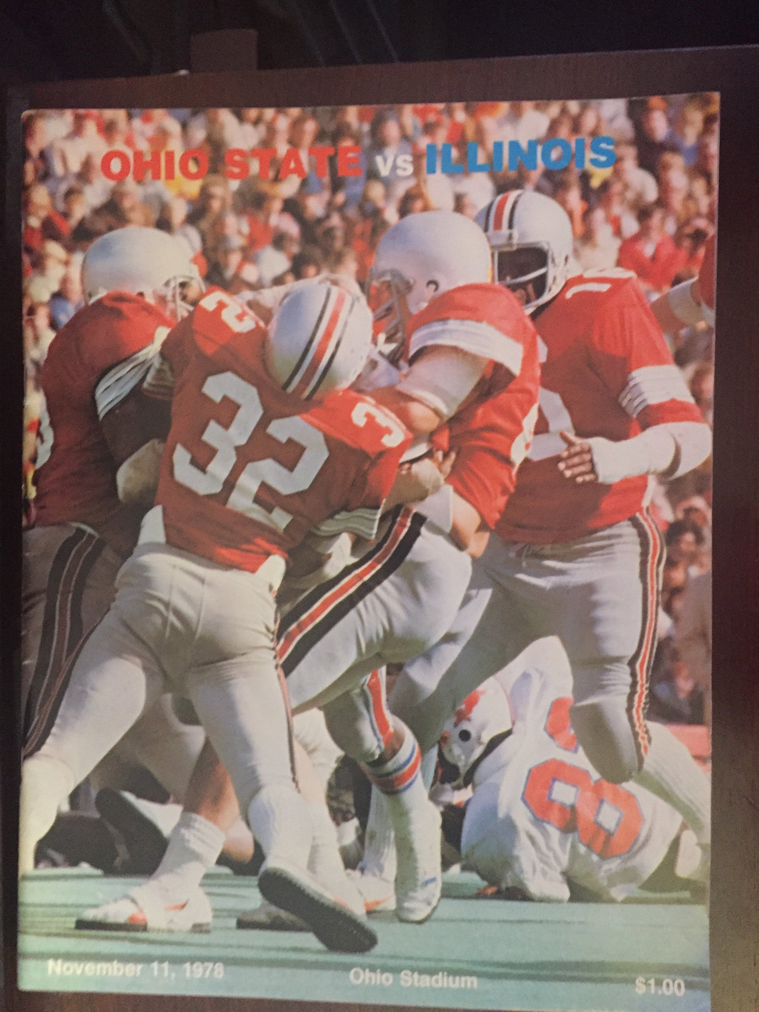 1978 Ohio State vs Illinois Football Program - Vintage Indy Sports