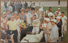 1959 Rodger Ward Indianapolis 500 Victory Lane Postcard