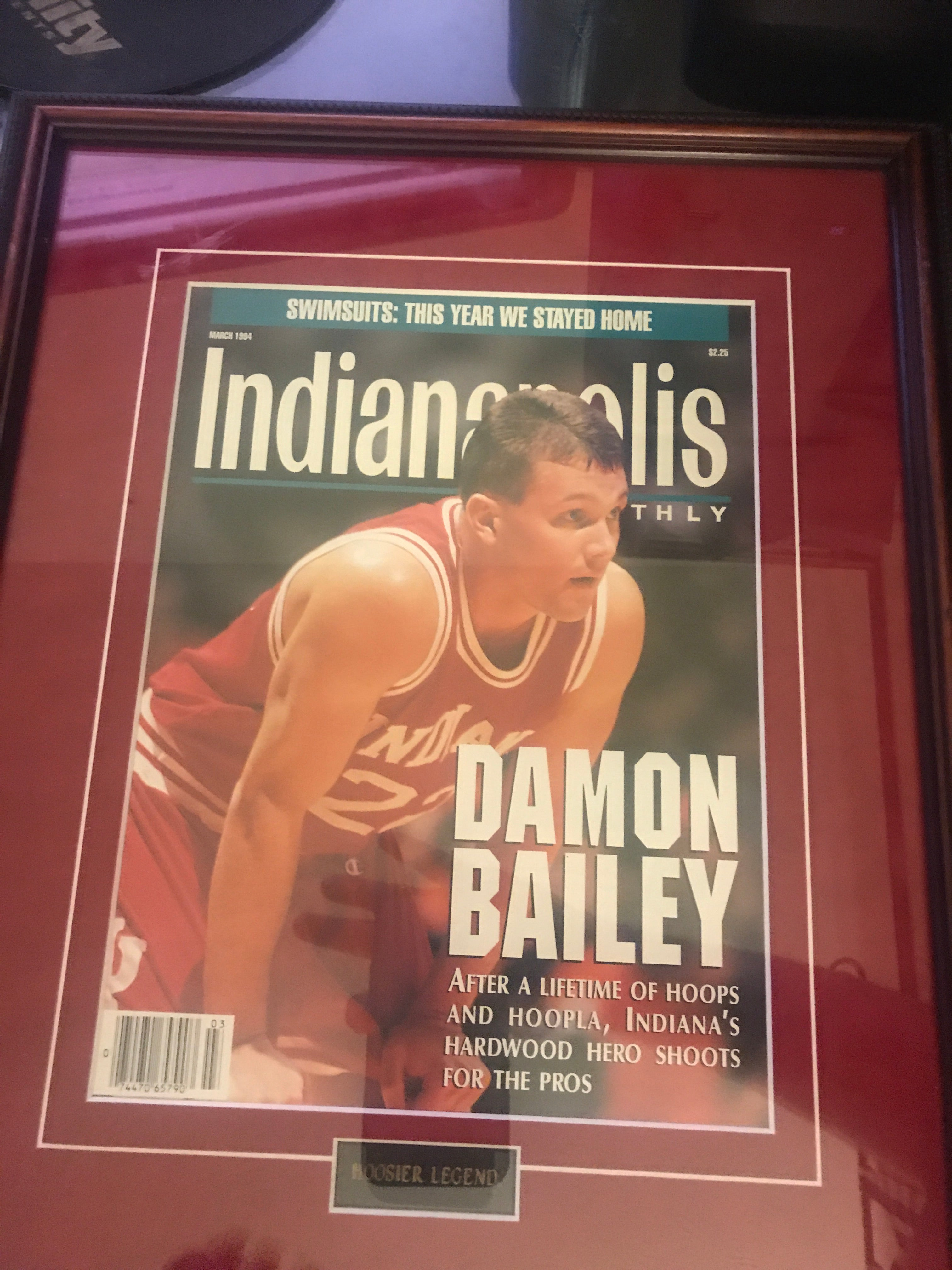 Framed 1994 Damon Bailey Indianapolis Monthly Magazine - Vintage Indy Sports