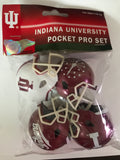 Indiana University 4 Custom Micro Pocket Pro Football Helmet Set