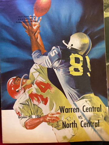 1967 Indianapolis Warren Central vs North Central HS Football Program