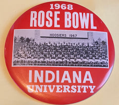 1968 Indiana University Rose Bowl Button